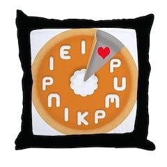 I LOVE PUMPKIN PIE Throw Pillow