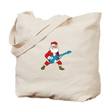 Rock N Roll Santa Tote Bag