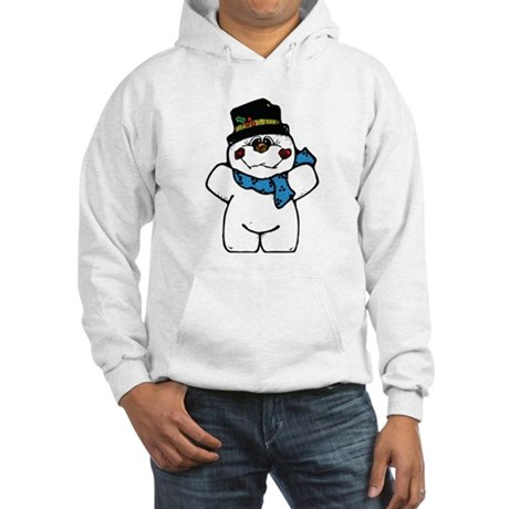 Happy Frosty Snowman Hooded Sweatshirt