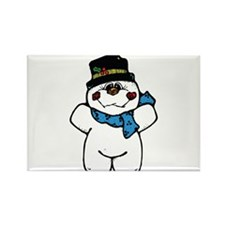 Happy Frosty Snowman Rectangle Magnet