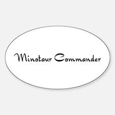 Minotaur Commander Oval Decal