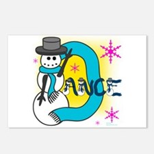 Dance Snowman Postcards (Package of 8)