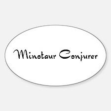 Minotaur Conjurer Oval Decal