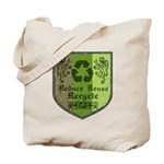 Medieval Recycling Reusable Canvas Tote Bag
