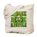 Reduce Reuse Recycle Reusable Tote Bag