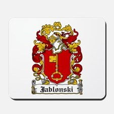 Jablonski Family Crest Mousepad