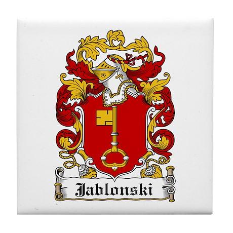 Jablonski Family Crest Tile Coaster