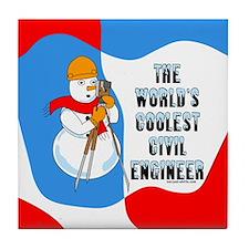 Coolest Civil Engineer Tile Coaster