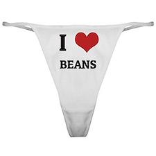 I Love Beans Classic Thong