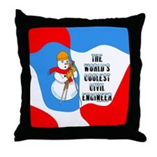 Coolest Civil Engineer Throw Pillow