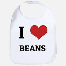 I Love Beans Bib