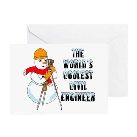 Coolest Civil Engineer Greeting Cards (Pk of 20)