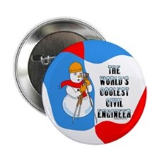 """Coolest Civil Engineer 2.25"""" Button (10 pack)"""