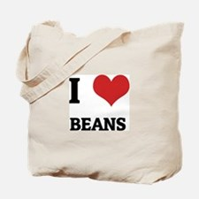 I Love Beans Tote Bag