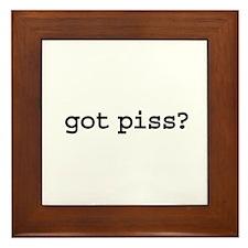 got piss? Framed Tile