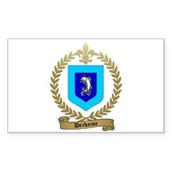 DECHAINE Family Crest Rectangle Sticker 10 pk)