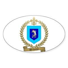 DECHAINE Family Crest Oval Sticker (50 pk)