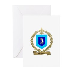 DECHAINE Family Crest Greeting Cards (Pk of 10)