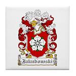 Jakubowski Family Crest Tile Coaster