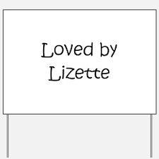 Unique Lizette Yard Sign
