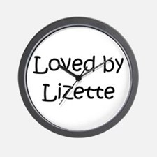Funny Lizette Wall Clock