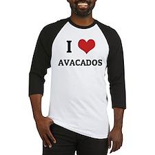 I Love Avacados Baseball Jersey
