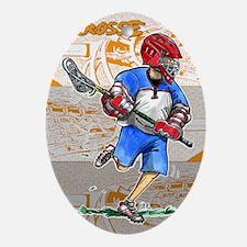 Lacrosse Oval Ornament
