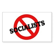 Anti Socialists Rectangle Decal