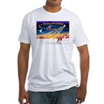 XmasSunrise/Cavalier #2 Fitted T-Shirt