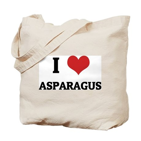 I Love Asparagus Tote Bag