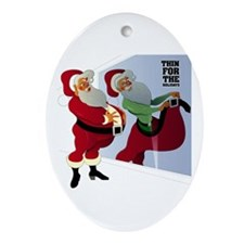 Santa Claus: Thin for the Holidays Oval Ornament