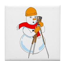 Snowman Surveyor Tile Coaster