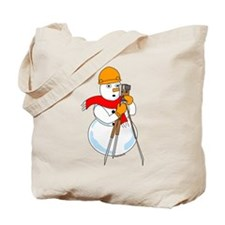 Snowman Surveyor Tote Bag
