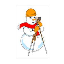 Snowman Surveyor Rectangle Decal