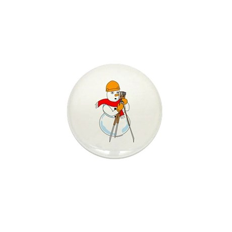 Snowman Surveyor Mini Button