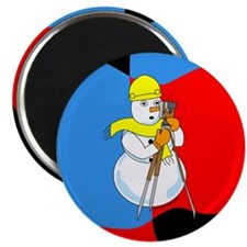 Snowman Surveyor Magnet