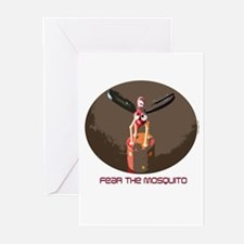 Fear the Mosquito Greeting Cards (Pk of 10)