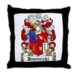 Jaworski Family Crest Throw Pillow