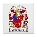 Jaworski Family Crest Tile Coaster