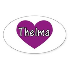 Thelma Oval Decal