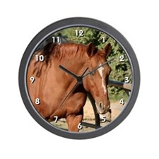 Chestnut Horse Clock