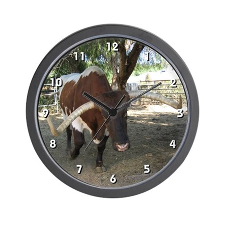 Texas Longhorn Clock