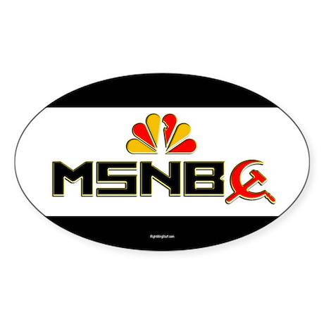 Olbermann Maddow Home Oval Sticker