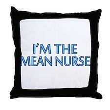 Mean Male Nurse Throw Pillow