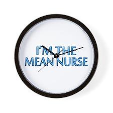 Mean Male Nurse Wall Clock