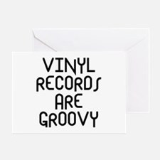 Vinyl Records Greeting Card