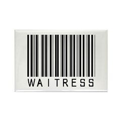 Waitress Barcode Rectangle Magnet