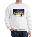 XmasSunrise/Brussels Griffon Sweatshirt