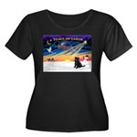 XmasSunrise/Brussels Griffon Women's Plus Size Sco