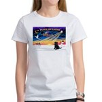XmasSunrise/Brussels Griffon Women's T-Shirt